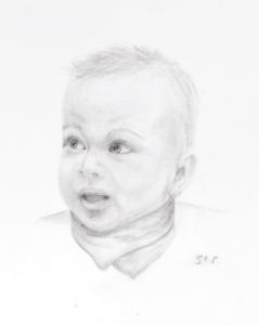 01 Portrait Kohle Kleinkind