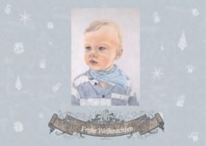 """""""Weihnachtskarte mit Muster"""" WKws"""