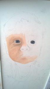 Pastellportrait Baby kleiner Junge Pastellfarben 01