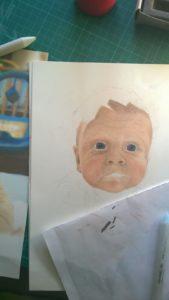Pastellportrait Baby kleiner Junge Pastellfarben 02