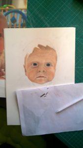 Pastellportrait Baby kleiner Junge Pastellfarben 03