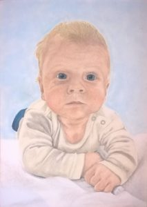Pastellportrait Baby kleiner Junge Pastellfarben 06