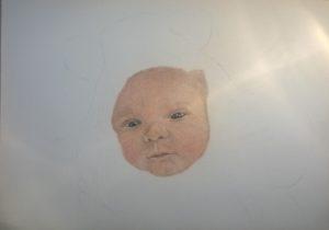 Neugeborenen-Gemälde Pastellfarben 01