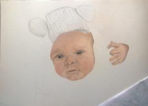 Neugeborenen-Gemälde Pastellfarben 02
