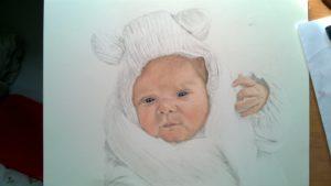Neugeborenen-Gemälde Pastellfarben 04