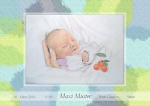 Geburtskarte Design Punkte Jungen
