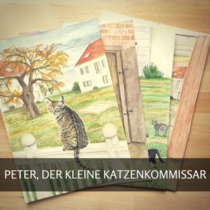 Peter, der kleine Katzenkommissar 1, Buchillustrationen, Illustrationen, Britta Banowski