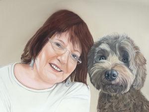 Portrait Frauchen Hund, Inga Prasse